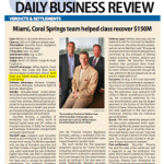 "Image for ""Miami, Coral Springs team helped class recover $150M"""