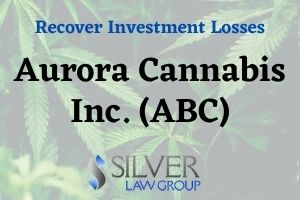 Silver Law Group is investigating Aurora Cannabis Inc (ACB) on behalf of investors for potential violations of federal securities laws.  If you have losses from investing in Aurora Cannabis Inc. (ACB) stock, contact Silver Law Group for a no-cost consultation at (800) 975-4345 or by email at ssilver@silverlaw.com.  Aurora Cannabis Inc (ACB) is a publicly traded company headquartered in Canada that produces and distributes medical cannabis products. Aurora is the second-largest marijuana company after Canopy Growth Corporation, when measured by market capitalization.