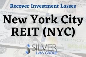 New York City REIT Inc. (NYC) has lost significant value since its public listing in August, 2020. Managed by AR Global, a partnership led by investor Nicholas Schorsch, many investors in the REIT have seen their investment decline by as much as 80%.  Started in 2013, New York City REIT, which invests in commercial real estate in New York, was one of many nontraded real estate investment trusts (REITS) managed by AR Global and Schorsch.  New York City REIT (NYC) Public Listing  Nontraded REITS are illiquid, which means they can't be easily sold. However, they often pay a high dividend, and the selling brokers sometimes tell investors that a liquidity event (public listing) could happen in the future that will allow them to get their principal out.  Sometimes with nontraded REITS the liquidity event doesn't happen, as in the case of The Parking REIT, which stopped paying distributions and told investors that a liquidity event may never occur.