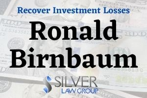 Ronald Birnbaum (Ronald David Birnbaum CRD# 238250) is a broker and investment advisor currently registered with Advisory Group Equity Services Ltd. and Trust Advisory Group Ltd. In Newton, Massachusetts. Ronald Birnbaum sold his clients private placements in GPB Capital, which Massachusetts securities regulators accuse of violating securities laws by misleading investors. Silver Law Group represents investors in claims to recover GPB investment losses. Contact us today at (800) 975-4345 for a no-cost consultation. GPB Capital Investments Holdings GPB Capital Holdings, an alternative asset management company founded in 2013 by Scientologist David Gentile, raised $1.8 billion by using broker-dealers across the country to sell private placement investments to investors. GPB is in the business of buying and managing companies such as car dealerships and garbage companies. A private placement in GPB couldn't be sold, but investors liked the high dividends it paid.