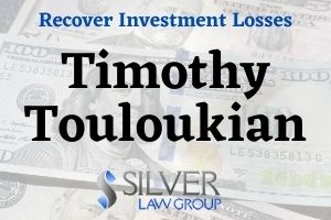 "Timothy Touloukian (CRD: #2803832) is a previously registered broker who was last registered with Paulson Investment Company LLC (CRD#:5670) of New York, NY. His previous employers include John Carris Investments LLC (CRD#:145767, expelled by FINRA in 2014) of Hoboken, NJ, Forefront Capital Markets LLC (CRD#:151812) and Advanced Equities, Inc. (CRD#:35545, expelled by FINRA in 2014), both of New York, NY.  Another previous employer, Ehrenkrantz King Nussbaum, Inc. (CRD#:113525), of Melville, NY, was also expelled by FINRA in 2012.  He has been in the industry since 1997.  Two customer disputes filed against Timothy Touloukian on 1/23/2020 contain the same allegations of ""material misrepresentations concerning an investment in a private placement."" One requests damages of $500,000, the second requests $200,000. These disputes are currently ""pending.""  Private placements are also known as an ""unregistered offering."" These are shares and/or bonds that are sold to wealthier institutions and frequently to accredited individuals. For companies who are seeking capital for an expansion, it's a more effective way of keeping a private company private, especially a small and less-established business such as a startup or family-owned business."