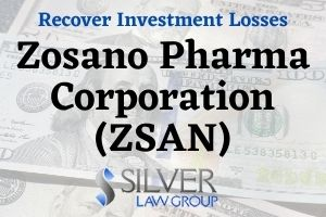 """Silver Law Group is investigating Zosano Pharma Corporation (ZSAN) regarding potential violations of federal securities laws. If you have losses from investing in Zosano Pharma Corporation (ZSAN), please contact Silver Law Group for a no cost consultation at (800) 975-4345 or by email at ssilver@silverlaw.com. Zosano Pharma Corporation is a biopharmaceutical company headquartered in California that provides """"therapeutics to patients suffering from migraine using its Adhesive Dermally-Applied Microarray technology."""" Zosano's lead product candidate is called Qtrypta, which is a formulation of zolmitriptan to treat migraines."""