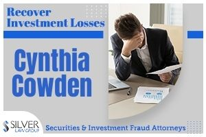 Cynthia Cowden (Cynthia Diane Cowden CRD#: 2054676) is a former registered broker and investment advisor whose last known employer was NPB Financial Group, LLC (CRD#:137743) of Lake Isabella, CA. Her previous employers include Tricor Financial, LLC (CRD#:142518) and Next Financial Group, Inc. (CRD#:46214), also of Lake Isabella, and Advantage Capital Corporation (CRD#:146) of Atlanta, GA. She has been in the industry since 1990. A client dispute filed on 1/29/2020 alleged that Cowden committed:  Negligence, suitability, negligent misrepresentation and omission; intentional misrepresentation and omission; fraud; violation of California securities laws. Control person liability; breach of fiduciary duty; failure to supervise; unsuitability; over concentration, breach of FINRA rules; breach of contract; loss of investment opportunity; and financial elder abuse. The client requested damages of $80,589.00, and the firm settled the claim for $57,000. FINRA responded to complaints from their Senior Helpline from a married couple and a single investor regarding the unsuitable recommendations they received from Cowden. From August 2016 through December 2017, Cowden recommended very high-risk investments to them. All three lived in California, and were inexperienced investors.