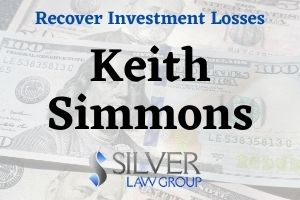 "Keith Simmons (Keith Frederick Simmons CRD: #730619) is a broker and investment advisor with Merrill Lynch, Pierce, Fenner & Smith Incorporated (CRD#:7691) of Miami, FL. He has been with Merrill Lynch since 1981, and is registered in 30 states.  Simmons is the subject of a customer dispute filed on 5/29/2020 by a client who alleges ""unsuitable investment recommendations.""  The client requests damages of $8,000,000. No additional information is available. The dispute is currently listed as ""pending.""  A previous customer dispute filed on 12/2/2009 alleges ""misrepresentation regarding the liquidity and risk of auction rate securities in June 2008.""  This case involved the sale of auction rate securities.  Merrill Lynch settled for $300,000, the cost of repurchasing these securities. The case was settled to avoid the continued cost and uncertainty of litigation. Simmons took no part in the settlement.  A customer dispute filed on 10/17/1997 alleged that Simmons ""oversold"" a client's shares without authorization. The client requested reinstatement of the shares, worth $9,000. Merrill Lynch settled the matter for $9,000 to avoid litigation."