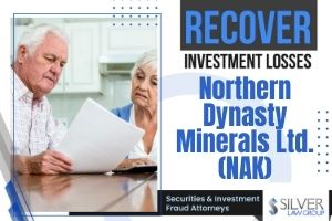 """Northern Dynasty Minerals Ltd. (NAK), a mining company, is the subject of a class action lawsuit regarding potential violations of federal securities laws.  If you have losses from investing in Northern Dynasty Minerals Ltd. (NAK) during the class period between December 21, 2017 through November 25, 2020, contact Silver Law Group for a no-cost consultation at (800) 975-4345 or at ssilver@silverlaw.com.  Army Corps Of Engineers Says Northern Dynasty Mine Would Degrade Environment  Northern Dynasty Minerals' principal property is a proposed copper-gold-molybdenum project in southwest Alaska that covers 417 square miles known as the Pebble Project. On August 24, 2020, the U.S. Army Corp of Engineers put out a statement, which said that the Pebble Project would significantly degrade the environment and """"likely result in significant adverse effects on the aquatic system or human environment."""""""
