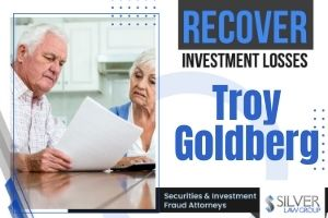 "Broker Troy Goldberg (CRD#: 2342989) is a registered broker and investment advisor currently employed with National Securities Corporation (CRD#: 7569) of Boca Raton, FL. Previous employers include Brookshire Securities Corporation (CRD#:44347) and Newbridge Securities Corporation (CRD#:104065), both of Fort Lauderdale, FL and Preferred Securities Group, Inc. (CRD#:35704), also of Boca Raton. Two of Goldberg's previous employers were expelled by FINRA in 1999: Monroe Parker Securities, Inc. (CRD#:31204) of Purchase, NY and Biltmore Securities, Inc (CRD#:25023) of Fort Lauderdale. Registered in 30 states, he has been in the industry since 1993. National Securities Corporation and Troy Goldberg Between 11/6/2019 and 1/29/2020, six customer disputes were filed alleging Goldberg made ""unsuitable recommendations"" in regards to private placements. It is not indicated whether these cases are the same client or more than one. The total requested damages for these pending claims comes to $640,000. However it is noted that the customer was an accredited investor, and Goldberg isn't a ""named respondent"" in the FINRA arbitration."