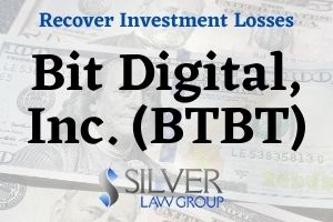 Bit Digital, Inc. (BTBT) is the subject of a class action lawsuit filed on behalf of shareholders. The class action lawsuit concerns alleged violations of federal securities laws and seeks to recover damages for investors.  If you have losses from investing in Bit Digital, Inc. (BTBT) during the class period between December 21, 2020 and January 8, 2021, contact Silver Law Group for a no-cost consultation at (800) 975-4345 or at ssilver@silverlaw.com.  Allegations In The Class Action  The complaint alleges that throughout the class period Bit Digital exaggerated the scope of its Bitcoin mining operations, and because of that their positive statements about the company and its prospects were misleading or lacked reasonable basis.  The class action lawsuit claims that investors suffered damages after the true details became known to the market. A class has not yet been certified in the action against Bit Digital. If you would like to be a lead plaintiff/class representative, you need to move the court before March 22, 2021.