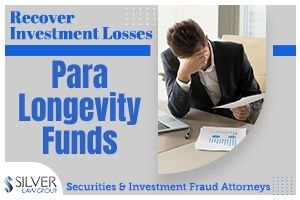 Investors are growing concerned about their investments in Para Longevity Funds offered by Marshal Seeman and Eric Holtz through Para Longevity Holdings and their company, Seeman Holtz (a/k/a National Senior Insurance, Inc.).  A lawsuit recently filed in Circuit Court in Palm Beach County, Florida, alleges Seeman, Holtz, and various affiliated entities violated the Florida Securities and Investor Protection Act, the Georgia Uniform Securities Act, and committed breaches of contract in connection with the offer and sale of investments in promissory notes issued by the Para Longevity entities. Among other things, the suit notes that the investments were unregistered, concealed various commissions and fees, and have not paid scheduled interest payments or return of principal upon maturity.  Silver Law Group has already begun investigating potential claims on behalf of Para Longevity investors to recover their losses. Silver Law Group is experienced in representing investors who suffered losses after being misled into purchasing unregistered investments, including promissory notes like the ones being sold by Para Longevity, Seeman, and Holtz.