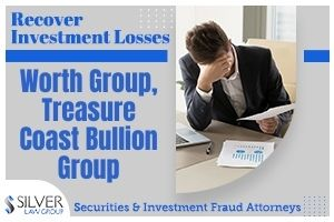 """Silver Law Group is representing investors who purchased precious metals on a leveraged basis or on margin, particularly silver, through Worth Group and/or Treasure Coast Bullion Group and lost their entire investment after a """"wipeout"""" event in March 2020. Worth Group and Treasure Coast are precious metals sales companies with a network of """"salesmen"""" operating throughout the United States. These companies frequently cold-call investors to convince them to invest in precious metals. Worth Group and Treasure Coast would often encourage investors not only to buy precious metals, but to obtain more silver on a leveraged basis or on margin, sometimes referred to as a """"Midas Account"""". Salesmen would tout that this program offered huge upside with minimal risk, and was even appropriate for retirees."""