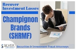 "Silver Law Firm is investigating Champignon Brands, Inc. (SHRMF) regarding potential claims for investors in the company to recover losses. The company is under scrutiny after allegations of potential violations of federal securities laws.  If you have losses from investing in Champignon Brands, Inc. (SHRMF), contact Silver Law Group for a no-cost consultation at (800) 975-4345 or at ssilver@silverlaw.com.  Champignon Brands is a company that advocates the use of psychedelic medicines in the mental health field, including a network of ketamine clinics that offer rapid-onset treatments for conditions such as depression and PTSD.  The company issued a press release on February 17, 2021, announcing that after a review by the British Columbia Securities Commission, they would be withdrawing and refiling their condensed interim consolidated financial statements and management's discussion & analysis (MD&A) for the three and six month periods that ended March 31, 2020 (the ""Original Financial Statements and MD&A"")."
