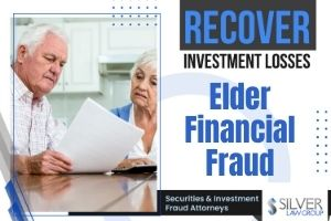 """Most stockbrokers and other financial service representatives genuinely care about their clients. Unfortunately, there are some in the mix who see an elderly client as a target-rich environment, and the abuse frequently isn't detected until it's too late. They take advantage of a client who may not completely understand what's being discussed or what they may be signing. Financial abuse of the elderly is the biggest form of elder abuse, and it's getting bigger. An estimated $2.9 billion is stolen every year from elders. Our attorneys work with victims to recover losses from financial advisors, trustees and family members who engage in misconduct. Most people believe that only wealthier seniors are targeted for elder financial fraud, but any senior can be targeted. Elders who are not financially well off can lose everything. Unfortunately, our lawyers have handled cases involving massive losses that steal a person's senior years. This is a growing problem that is only expected to get worse as the """"baby boomer"""" generation gets older."""