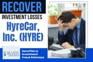 HyreCar, Inc. (HYRE) is the subject of a class action lawsuit filed on behalf of shareholders regarding alleged violations of the federal securities laws.  If you purchased shares of HyreCar between May 14, 2021 and August 10, 2021 (class period), please contact Silver Law Group at (800) 975-4345 or at ssilver@silverlaw.com. The deadline to apply to be lead plaintiff (class representative) is October 26, 2021.  HyreCar is a publicly-traded Los Angeles-based company that operates a car sharing marketplace, which allows car owners to rent their cars to drivers for ride-share services like Uber and Lyft.  HyreCar Press Release Causes Stock To Fall  After market close on August 10, 2021, HyreCar stated in a press release that in Q2 2021 the company had net losses of $9.3 million. The company's adjusted EBITDA loss was $7.1 million, which was more than four times higher than the $1.7 million adjusted EBITDA loss in the same quarter of the previous year.  According to the press release, gross profit for Q2 2021 was $0.8 million, which was less than one third what it was in the same quarter of the previous year.  At the same time the press release was issued, HyreCar filed a 10-Q with the SEC, which disclosed increasing costs of revenue during the quarter, which was attributed to higher insurance claims incidence.